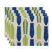 e by design Surf, Sand, & Sea Dean Geometric Placemat (Set of 4)