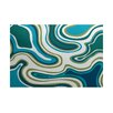 e by design Beach Vacation Teal Indoor/Outdoor Area Rug