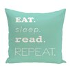 e by design Beach Vacation My Mantra Word Throw Pillow