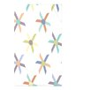 e by design Beach Vacation Pinwheel Pop Geometric Fleece Throw Blanket
