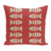 e by design Beach Vacation Something's Fishy Animal Throw Pillow