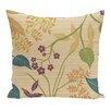 e by design Botanical Blooms Botanical Floral Throw Pillow