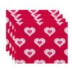e by design Valentine's Day Placemat (Set of 4)