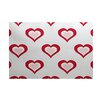 e by design Valentine's Day Red Indoor/Outdoor Area Rug