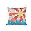 e by design Hang Ten Sunbeams Geometric Outdoor Throw Pillow