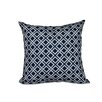 e by design Nautical Nights Rope Rigging Geometric Outdoor Throw Pillow
