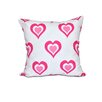 e by design Valentine's Day Throw Pillow in White