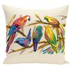 e by design Happy Birds Throw Pillow