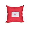 e by design Valentine's Day Outdoor Throw Pillow