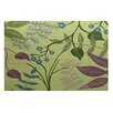 e by design Botanical Blooms Green Indoor/Outdoor Area Rug