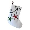 e by design Coastal Christmass Starfish Ornament Geometric Print Stocking