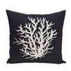 e by design Coral Reef Geometric Print Throw Pillow