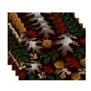 e by design Flipping for Fall Watercolor Leaves Floral Print Placemat (Set of 4)