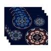 e by design HH Revival Medallion Print Placemat (Set of 4)