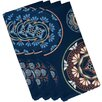 e by design HH Revival Medallions Flora Print Napkin (Set of 4)