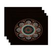 e by design HH Revival Stained Glass Print Placemat (Set of 4)
