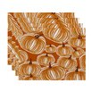 e by design Flipping for Fall Pumpkins-A-Plenty Print Placemat (Set of 4)