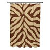 e by design Flora and Fauna Animal Print Shower Curtain