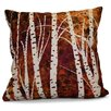 e by design Flipping for Fall Birch Trees Floral Throw Pillow