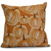 e by design Flipping for Fall Pumpkins-A-Plenty Geometric Outdoor Throw Pillow