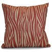 e by design Flora and Fauna Wood Striped Geometric Outdoor Throw Pillow