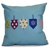 e by design Hanukkah 2016 Decorative Holiday Geometric Throw Pillow