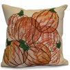 e by design Flipping for Fall Pumpkin Pile Geometric Outdoor Throw Pillow