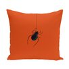 The Holiday Aisle Halloween Orange Spider Outdoor Throw Pillow