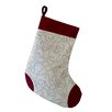 e by design Holiday Wishes Gate Wreath Decorative Holiday Stocking