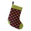 e by design Coastal Christmass Shell Wreath Geometric Print Stocking