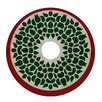 e by design Holiday Wishes Gate Wreath Decorative Holiday Tree Skirt