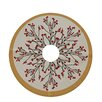 e by design Holiday Wishes Joy Decorative Holiday Tree Skirt