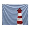 e by design Nautical Nights Light House Tapestry