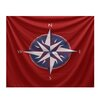 e by design Nautical Nights Compass Tapestry