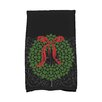 e by design Holiday Wishes Gate Wreath Hand Towel