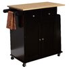 TMS Lana Kitchen Cart with Wooden Top