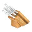 Rada Cutlery 6 Piece Creative Cuts Oak Block Knife Set