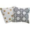 Amrapur Overseas Inc. Contempo Cotton Throw Pillow (Set of 2)