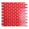 "Smart Tiles Mosaik Murano Cosmo 10.20"" x 9.10"" Peel & Stick Wall Tile in Red"