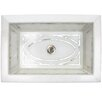 Linkasink Graphic Mother of Pearl Inlay Drop In Bathroom Sink