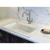 Linkasink Floral Mother of Pearl Inlay Drop In Bathroom Sink