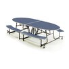 "AmTab Manufacturing Corporation 46"" x 121"" Rectangular Cafeteria Table"
