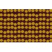 Thumbprintz Line Dots Gold Rug