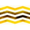 Thumbprintz Ombre Gold Chevron Area Rug