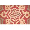 Thumbprintz Golden Medallion Red Area Rug