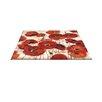 Thumbprintz Bold Poppies Red Area Rug