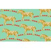 Thumbprintz Zebra Mint Area Rug
