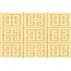 Thumbprintz Greek Key II Yellow Geometric Area Rug