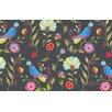 Thumbprintz Early Bird Black Area Rug
