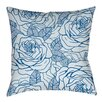 Thumbprintz Rose Tonic Printed Throw Pillow